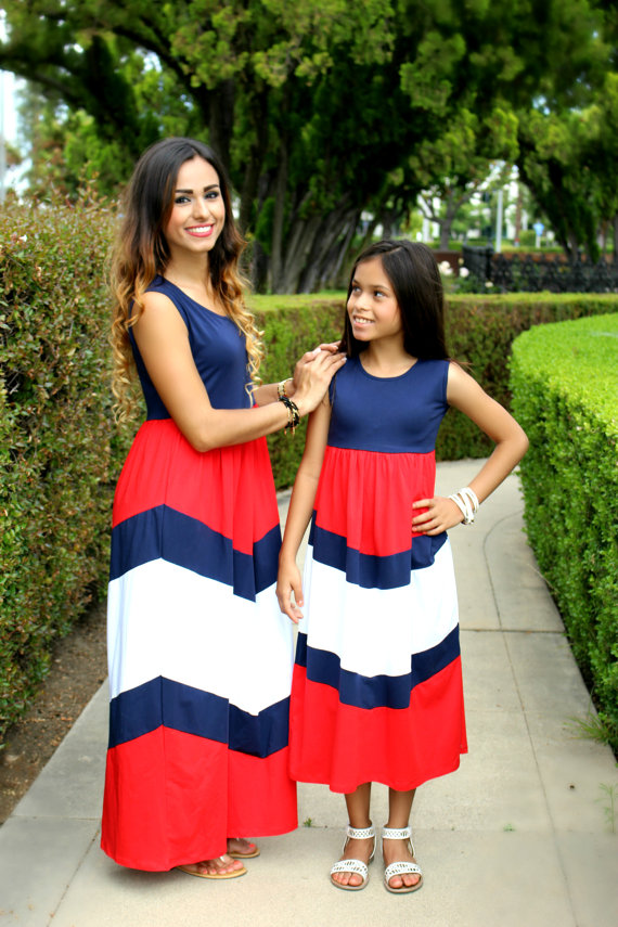 Matching 4th of July Mommy + Me Dresses