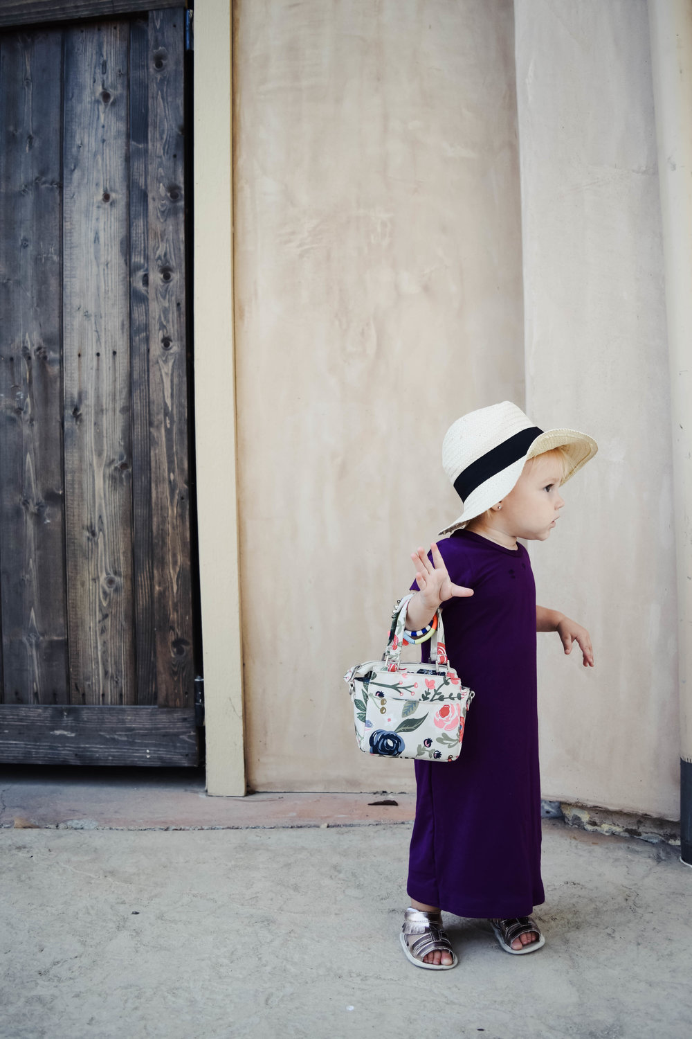 KIDS SUMMER FASHION | Baby Maxi Dress Baby Floppy Hat Baby Purse Ju-Ju-Be Itty Bitty Be