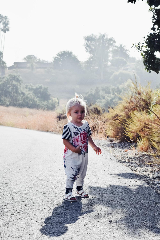 KIDS FASHION | Baby Floral Harem Romper - Brooklynn and Grey