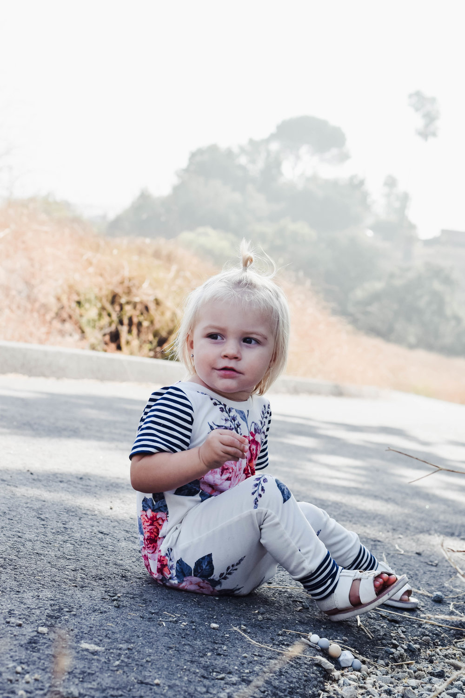 KIDS FASHION   Baby Floral Harem Romper - Brooklynn and Grey