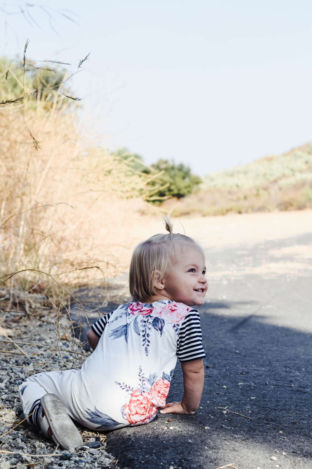 KIDS FASHION | Baby Floral Harem Romper - Brooklynn and Grey