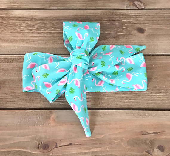 Teal Flamingo Headwrap
