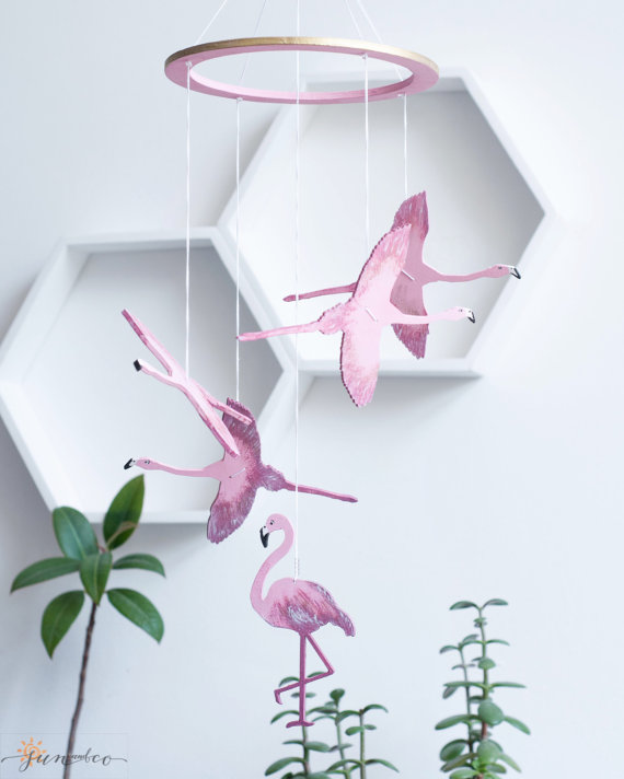 Flamingo Nursery Mobile - Flamingo Nursery Decor