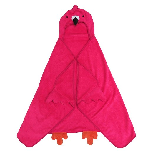 Flamingo Hooded Kids Bath Towel