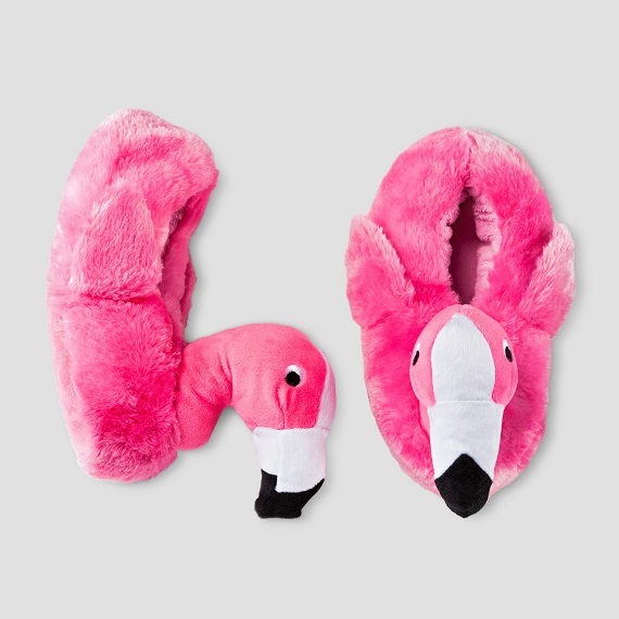 Kids Flamingo Slippers