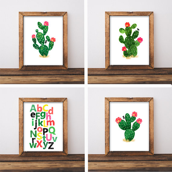 Cactus Nursery Decor