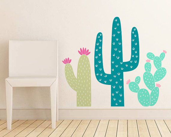 Cactus Wall Vinyl - Cactus Nursery Decor