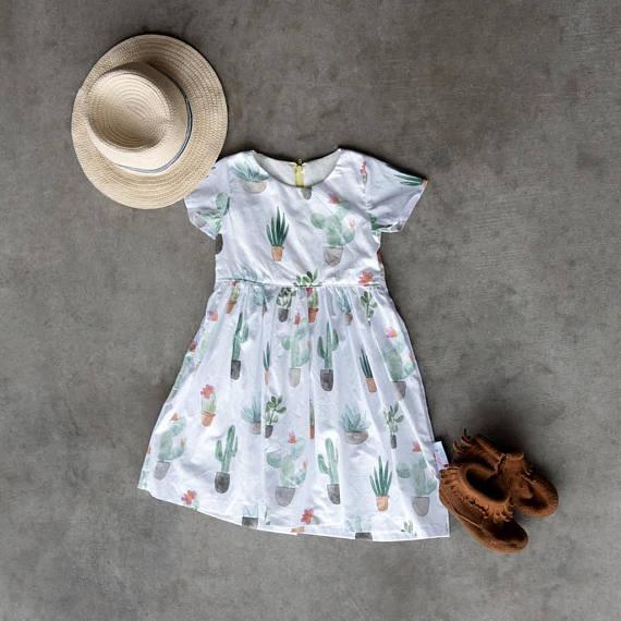 Kids Cactus Dress