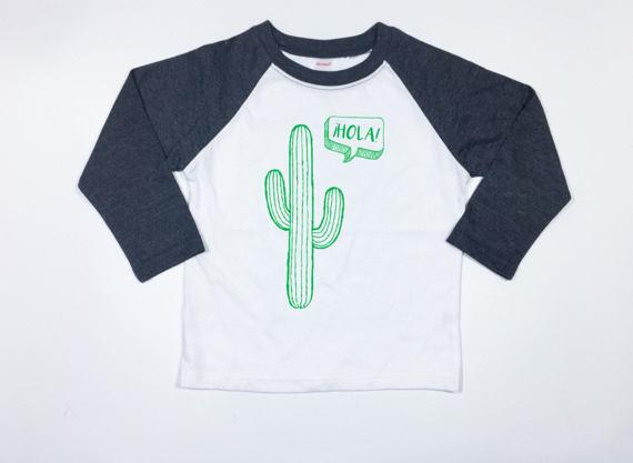 Kids Cactus Raglan Shirt