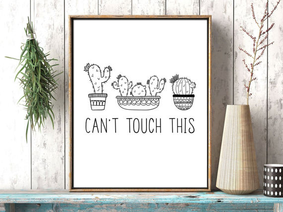 Cant Touch This Cactus Wall Decor
