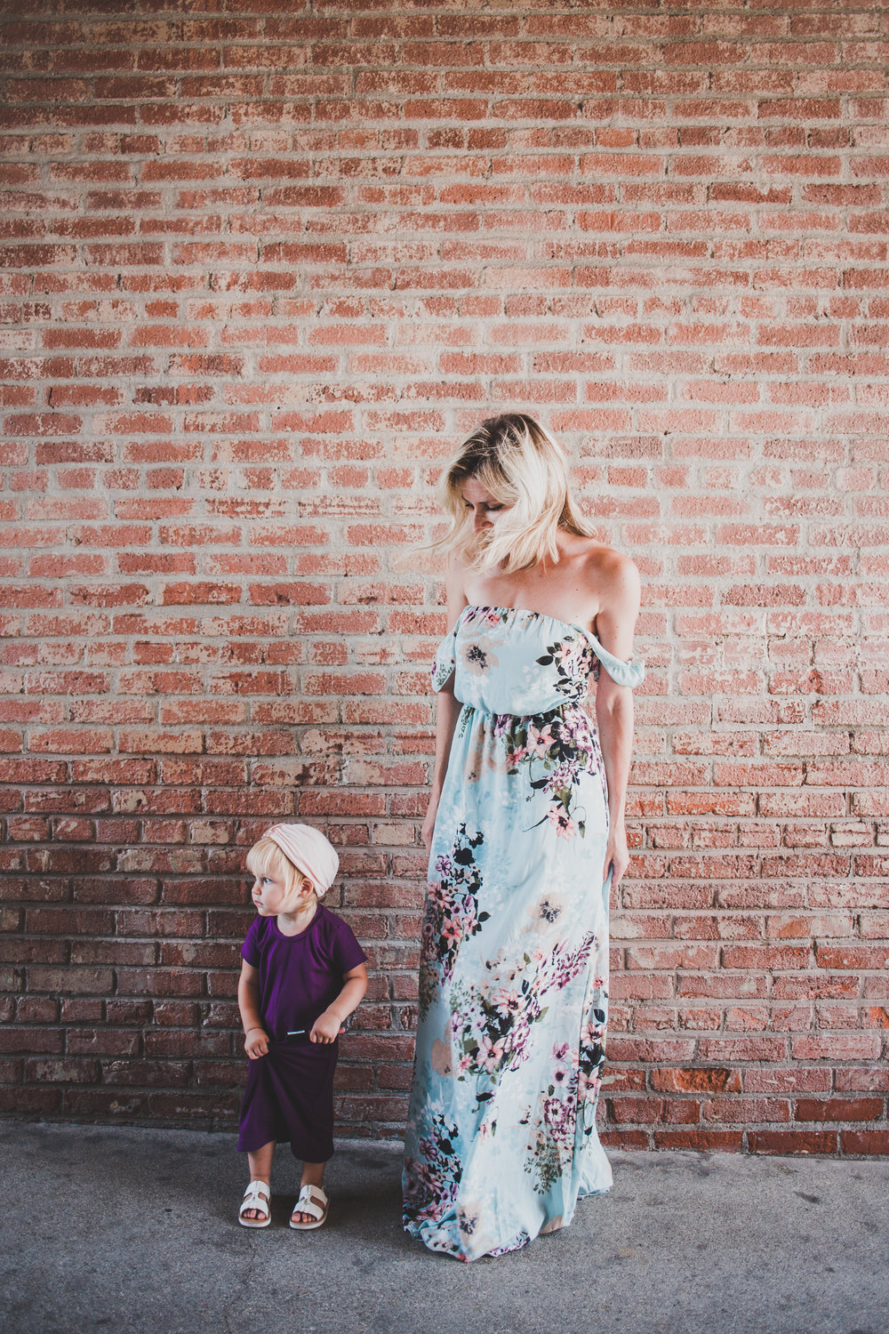PinkBlush - Trendy Mom Clothes - Cute Maternity Clothes - Off the Shoulder Dresses - Floral Print Dresses