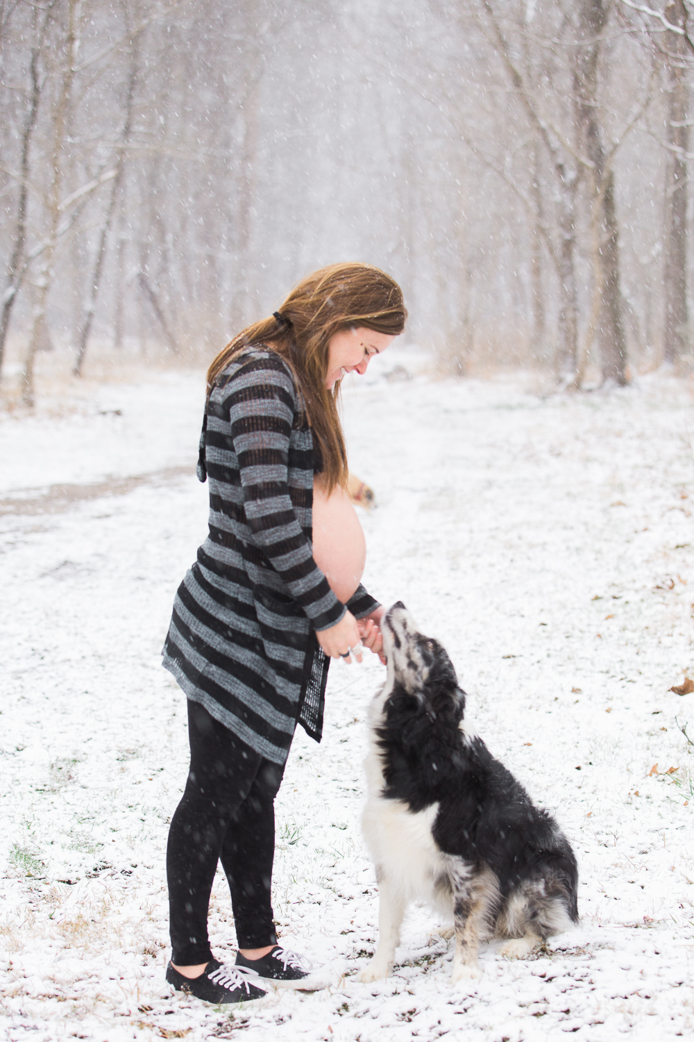 Asheville, North Caroline Snowy Maternity Session -- Meghan Rolfe Photography