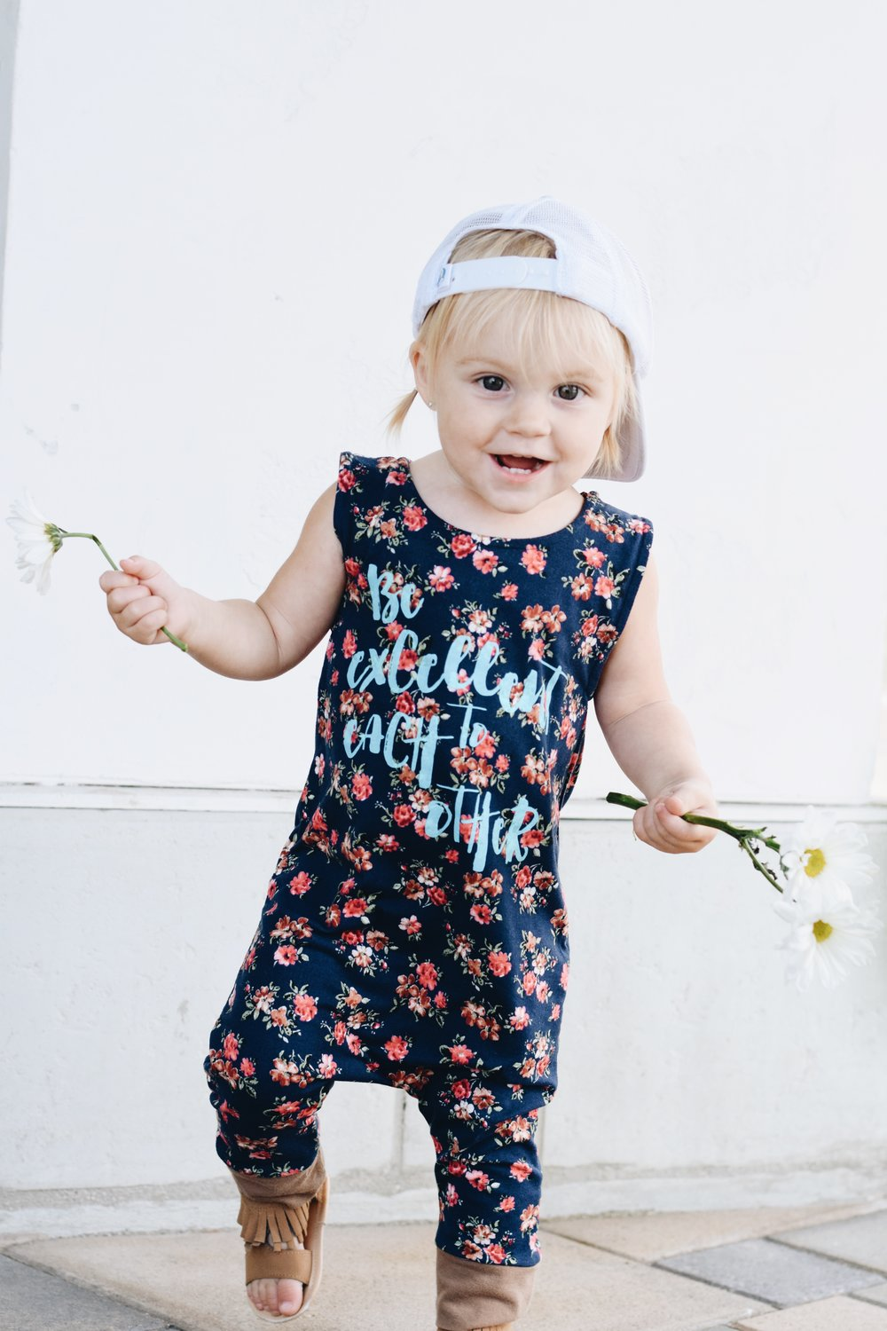 Be Excellent to Each Other - Henry & Claire Floral Romper
