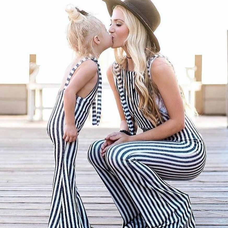Mommy and Me Striped Overalls - harlow jade