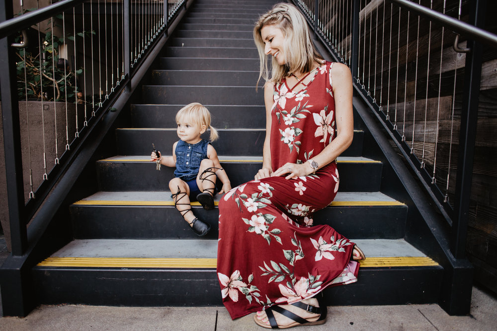 Maternity Fashion - PinkBlush - Maroon Floral Maternity Maxi