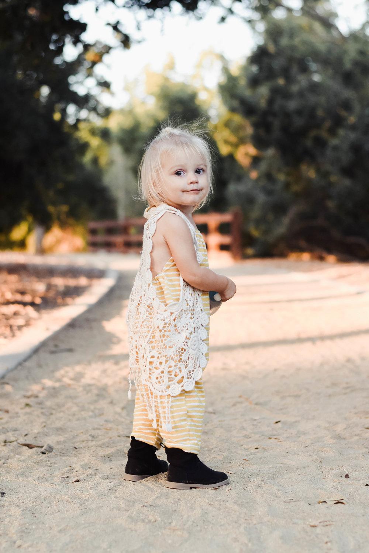 Kids Fall Fashion Guide - Mustard Yellow Kids Halter Romper - Cherry Brick Road