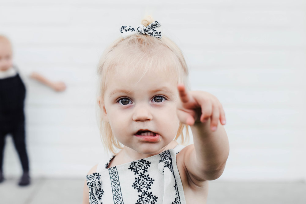 Baby Girl Clothes - Black + White Kids Pinafore - Kids Fall Fashion Guide | Nomad Shoppe