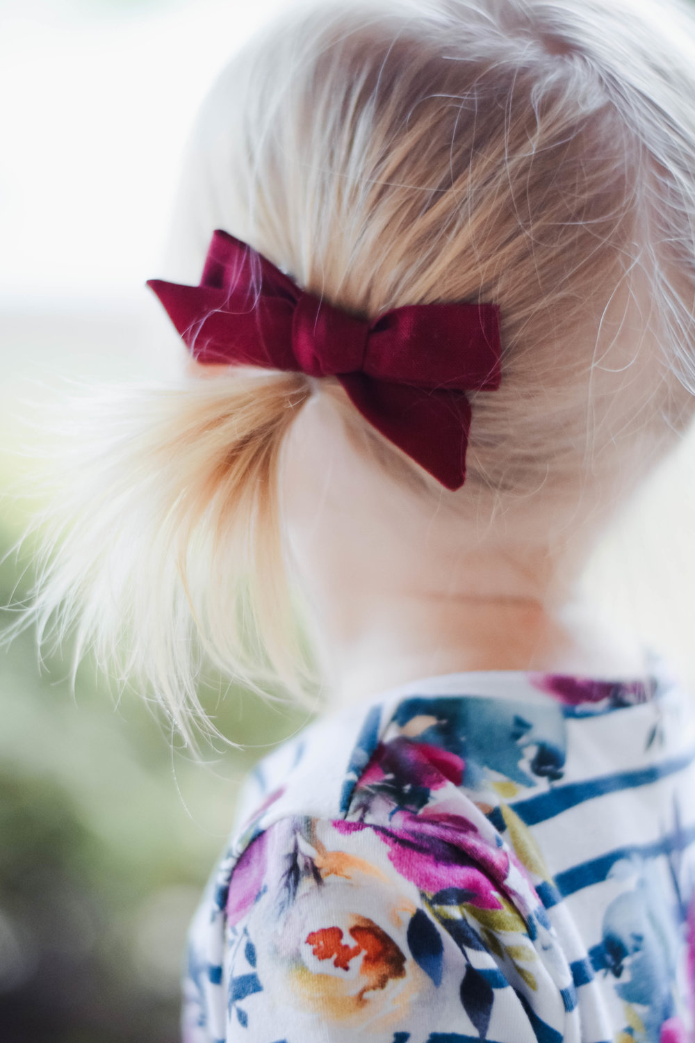Burgundy Pigtail Clip Baby Bows - Kids Fall Fashion Guide - Elle Belle Baby