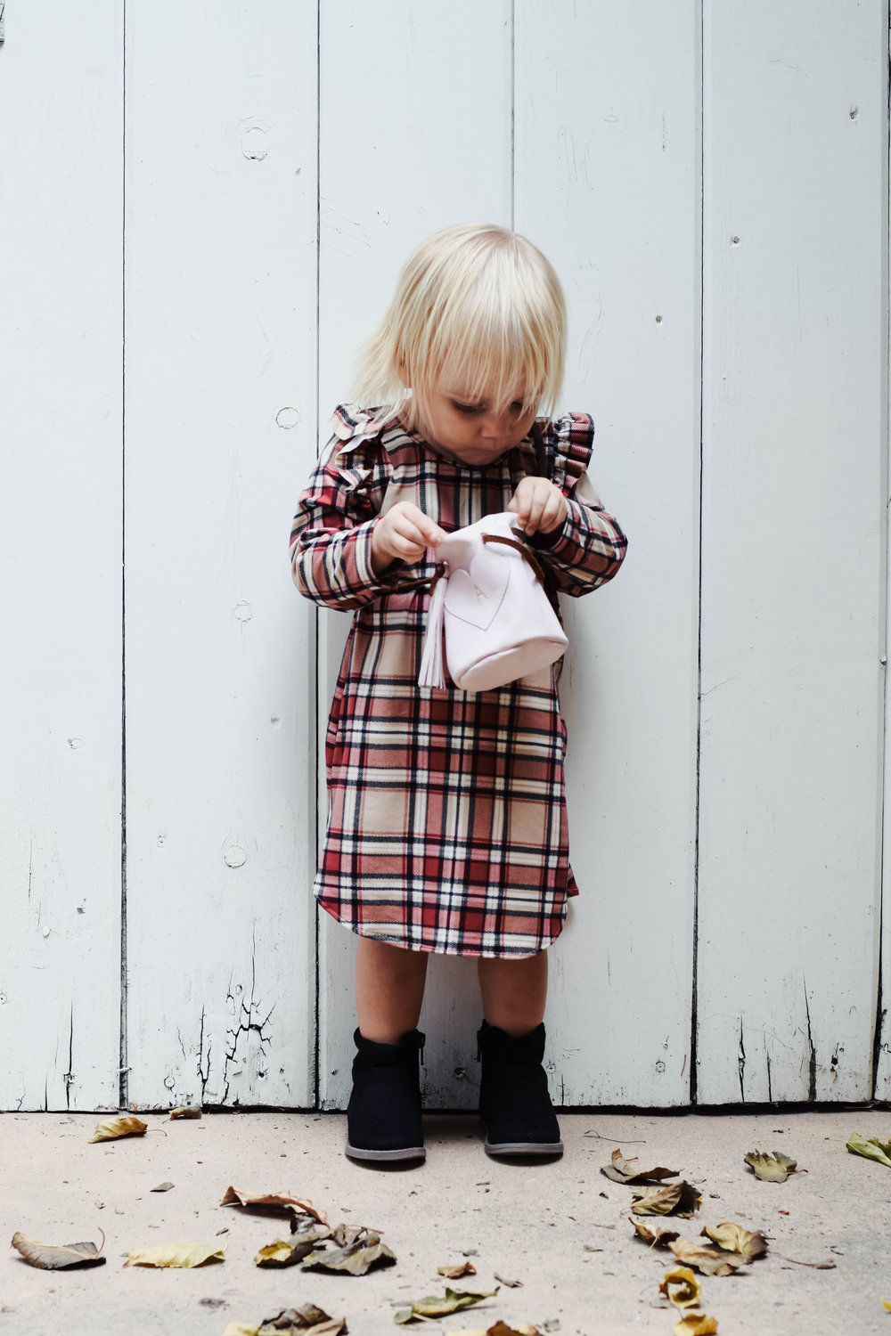 Leather Kids-Baby Purse - Ali Jane & Co - Kids Fall Fashion Guide