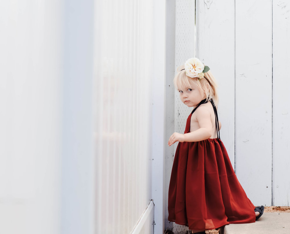 Baby-Kids Red Maxi Dress - Cute Fall Kids Clothes - Kids Fall Fashion Guide | Teeny Tiny Threads