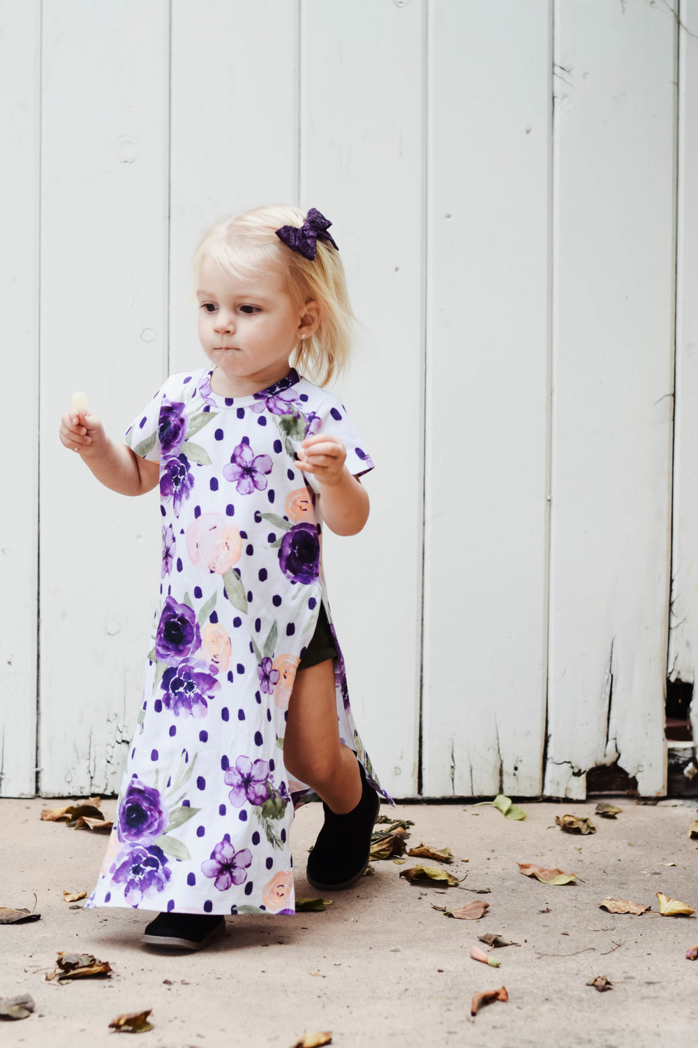 Cute Fall Kids Clothes - Kids-Baby Floral Maxi Dress -- Mommy Blogger-Vlogger - The Overwhelmed Mommy