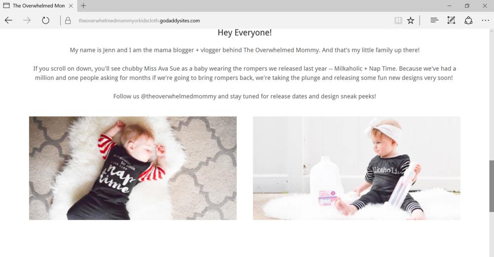Quick + Easy Website Builder - GoDaddy -- Mommy Blogger-Vlogger -- The Overwhelmed Mommy