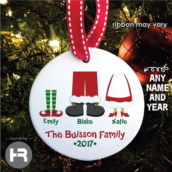 Personalized Family Ornaments - Baby's First Christmas Ornaments - Mommy Blogger-Vlogger - The Overwhelmed Mommy