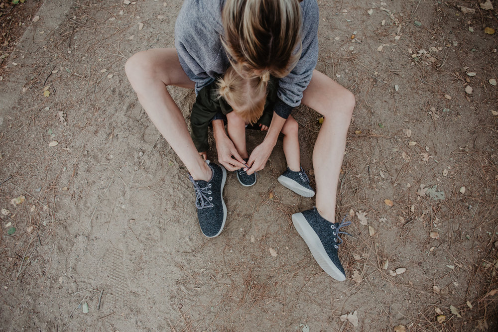 Mommy + Daughter Tennis Shoes - Allbirds - Tips for Online Holiday Shopping -- Mommy Blogger-Vlogger - The Overwhelmed Mommy