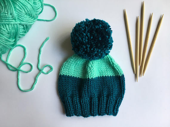 Baby Kids Pom Pom Beanie - Baby Kids Slouch Beanie -- Mommy Blogger - The Overwhelmed Mommy