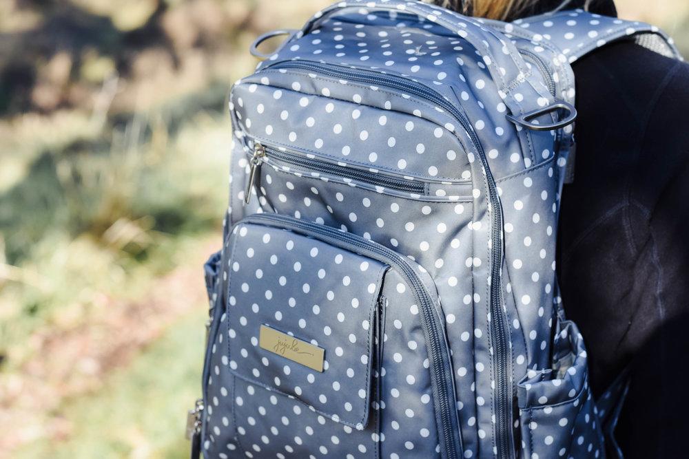 Ju-Ju-Be Dot Dot Dot Be Right Back - Diaper Bag Backpack -- Mommy Blogger-Vlogger - The Overwhelmed Mommy