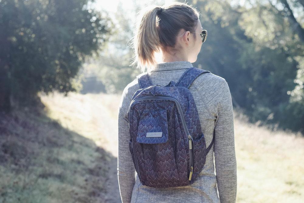 Ju-Ju-Be Amethyst Ice Mini Be - Diaper Bag Backpack -- Mommy Blogger-Vlogger - The Overwhelmed Mommy
