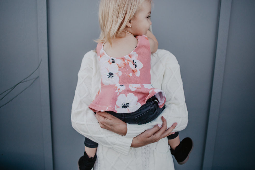Winterfy Your Fall Wardrobe -- Cute Winter Baby Kids Clothes - Women's White Knit Sweater Dress - Women's Over the Knee Brown Boots -- Mommy Blogger Vlogger - The Overwhelmed Mommy