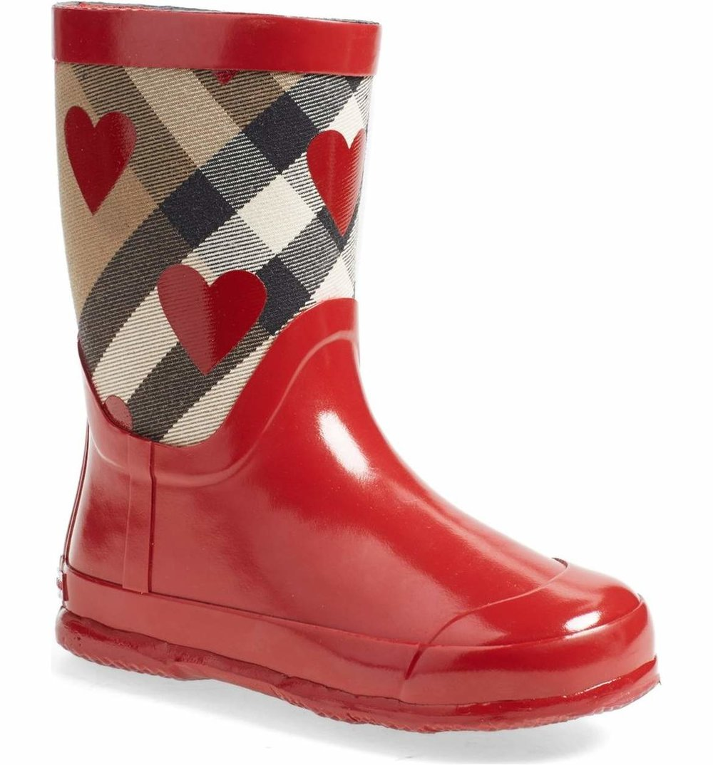 Cute Kids-Toddler Red Burberry Rain Boots -- Mommy Blogger-Vlogger - The Overwhelmed Mommy