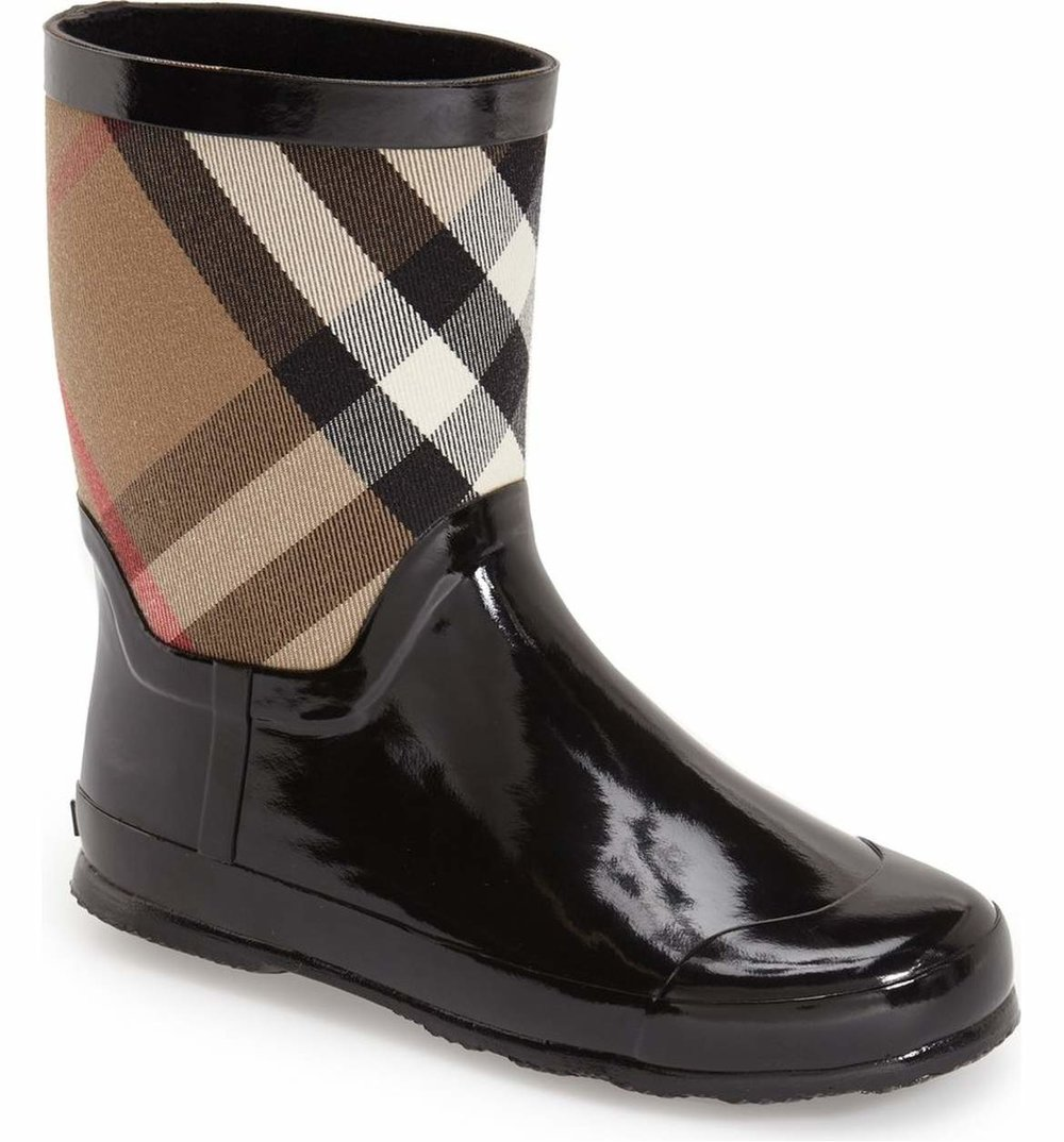 Cute Kids-Toddler Burberry Print Rain Boots -- Mommy Blogger-Vlogger - The Overwhelmed Mommy