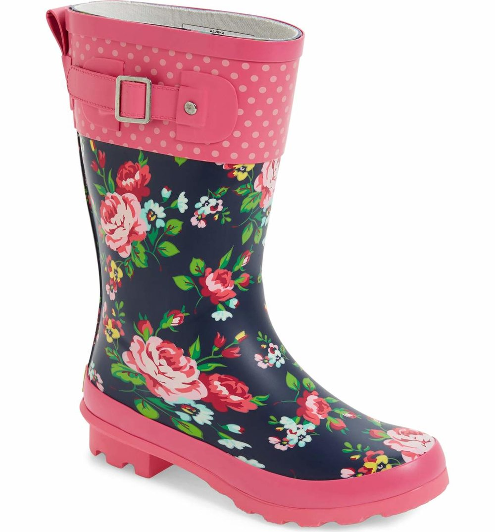 Cute Kids-Toddler Floral Rain Boots -- Mommy Blogger-Vlogger - The Overwhelmed Mommy