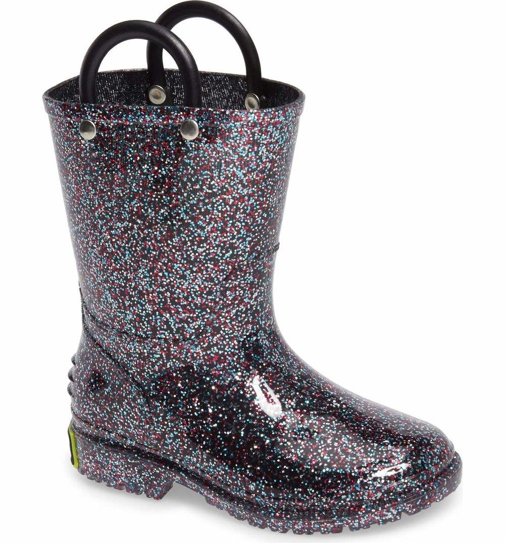 Cute Kids-Toddler Glitter Rain Boots -- Mommy Blogger-Vlogger - The Overwhelmed Mommy