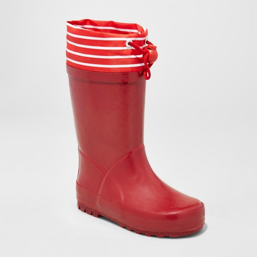 Cute Kids-Toddler Red Rain Boots -- Mommy Blogger-Vlogger - The Overwhelmed Mommy