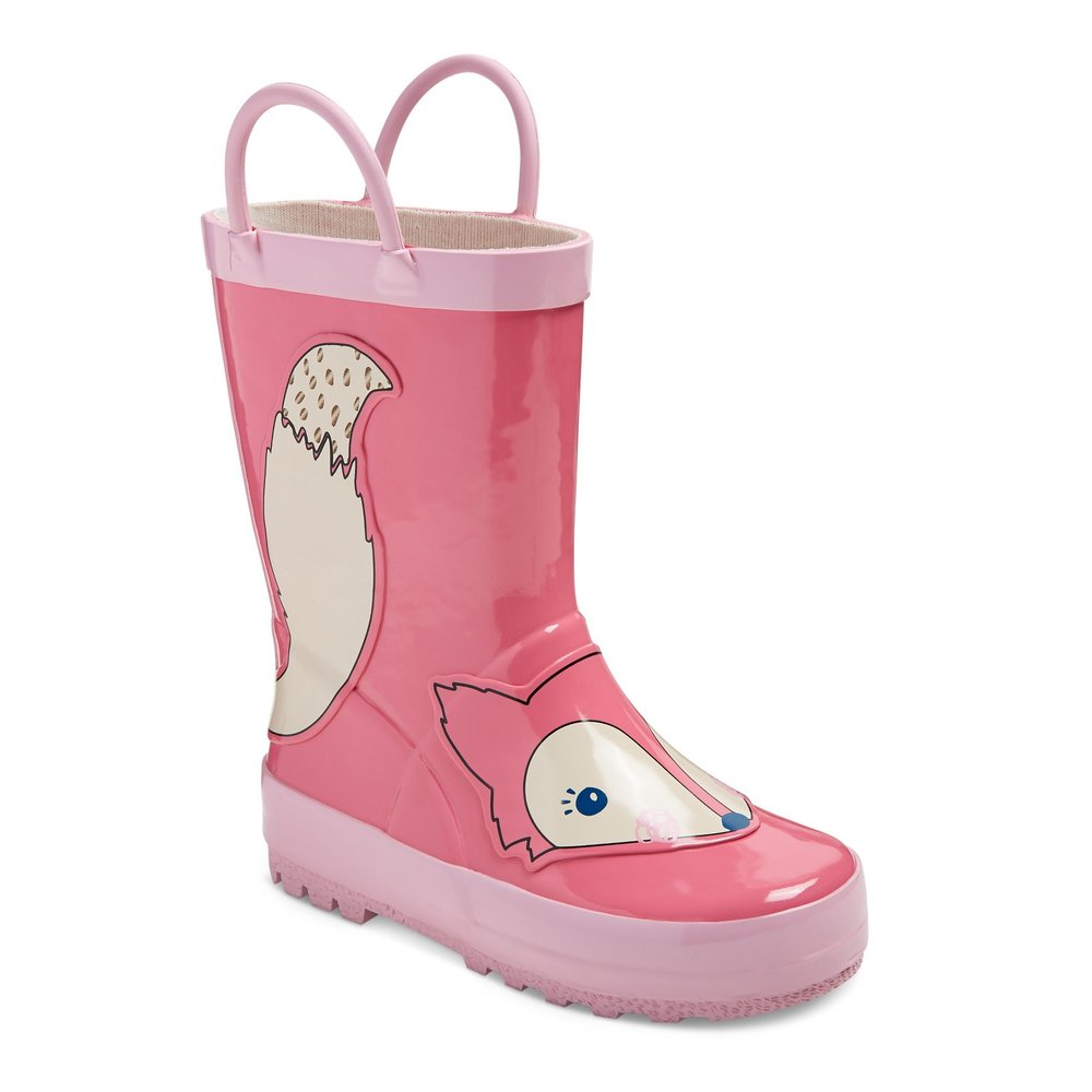 Cute Kids-Toddler Pink Fox Rain Boots -- Mommy Blogger-Vlogger - The Overwhelmed Mommy