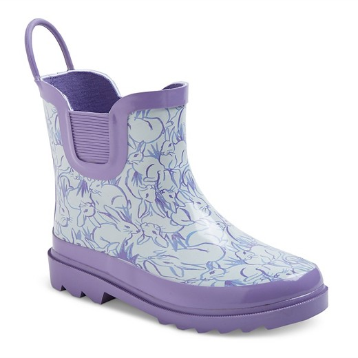 Cute Kids-Toddler Purple Rain Boots -- Mommy Blogger-Vlogger - The Overwhelmed Mommy
