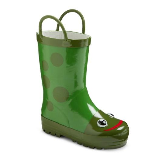 Cute Kids-Toddler Frog Rain Boots -- Mommy Blogger-Vlogger - The Overwhelmed Mommy