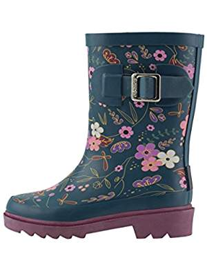 Cute Kids-Toddler Floral Print Rain Boots -- Mommy Blogger-Vlogger - The Overwhelmed Mommy