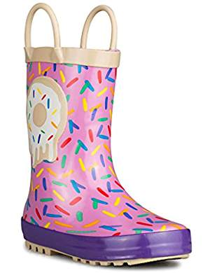 Cute Kids-Toddler Pink Donut Sprinkle Rain Boots -- Mommy Blogger-Vlogger - The Overwhelmed Mommy