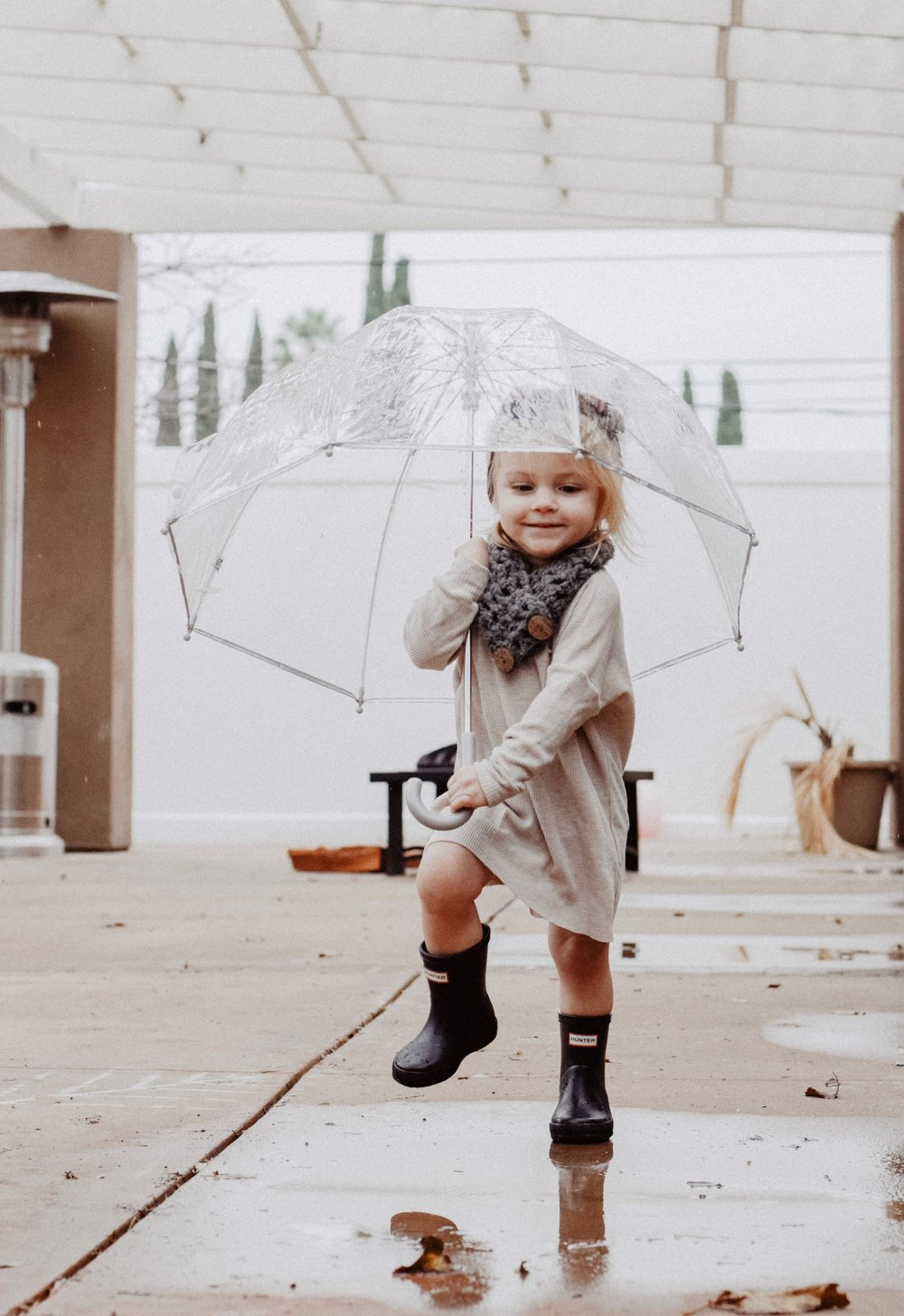 Cute Kids Rain Boots - Clear Kids Umbrellas -- Mommy Blogger-Vlogger - The Overwhelmed Mommy