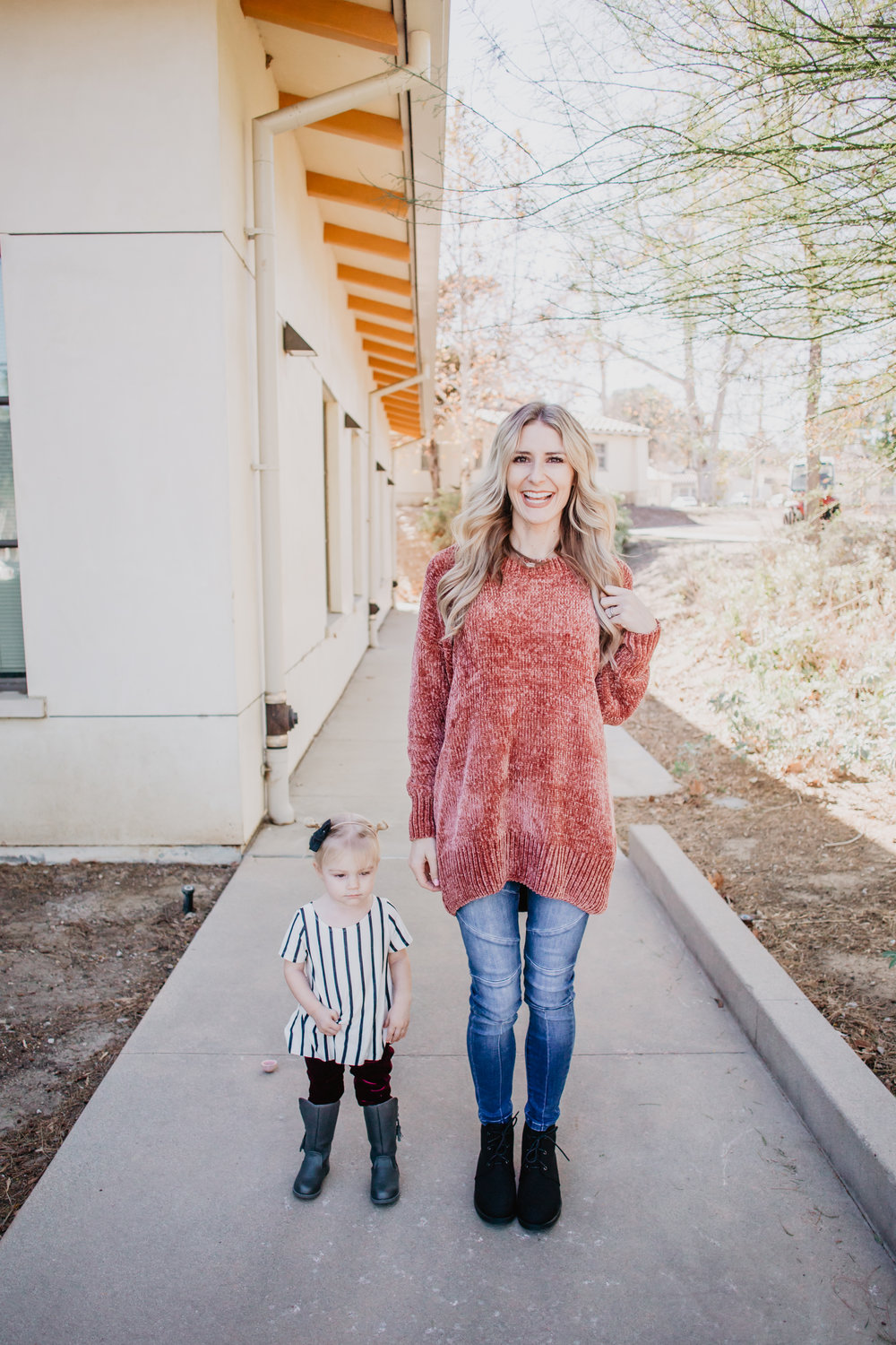 Mom Fashion Blog - Cute Kids Clothes - Kids Velvet Leggings - Pink Desert Clothing -- Mommy Blogger-Vlogger - The Overwhelmed Mommy