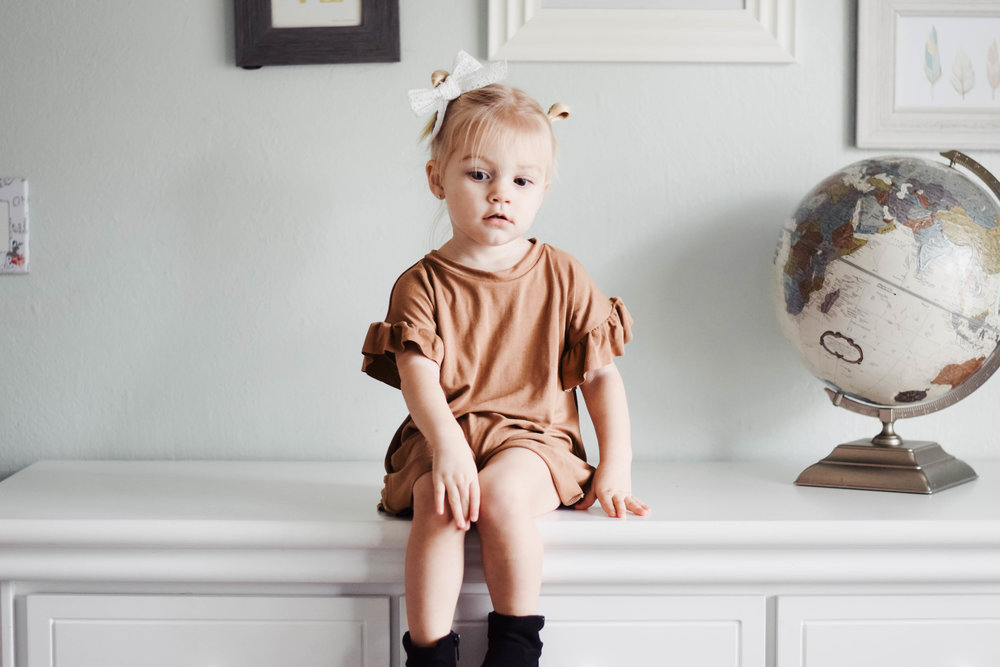 8 Item Capsule Wardrobe for Babies + Toddlers -- Rose and Belle Clothing -- Mommy Blog - The Overwhelmed Mommy
