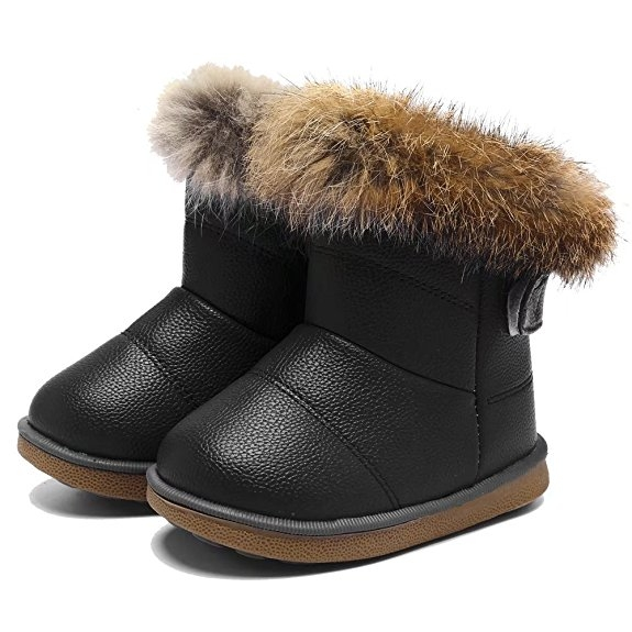 Cute Winter Kids Clothes -- Kids Fur Snow Boots -- Mommy Blogger - The Overwhelmed Mommy