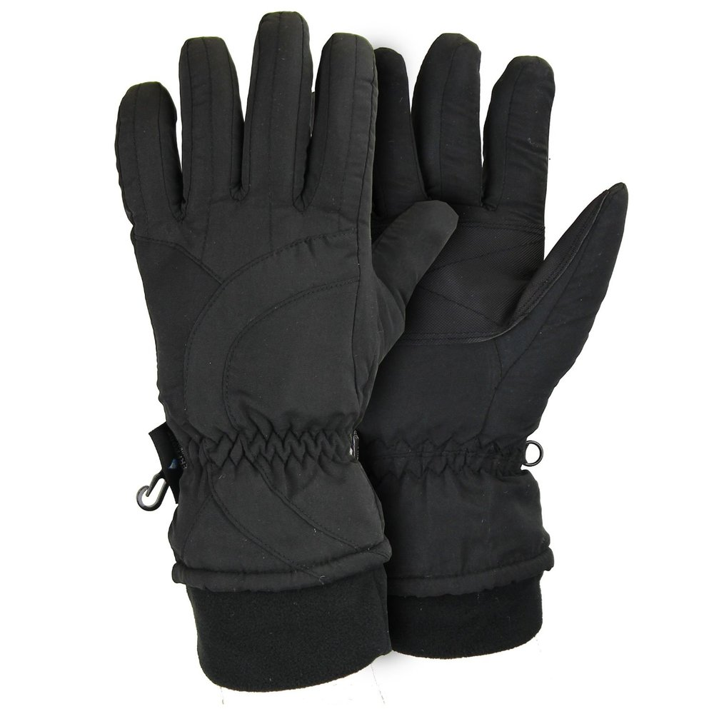 Cute Winter Kids Clothes -- Black Womens Snow Gloves -- Mommy Blogger - The Overwhelmed Mommy