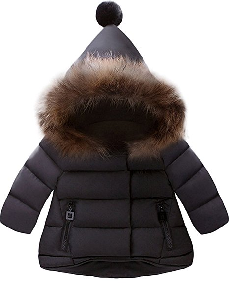 Cute Winter Kids Clothes -- Black Kids Fur Hooded Snow Coat -- Mommy Blogger - The Overwhelmed Mommy