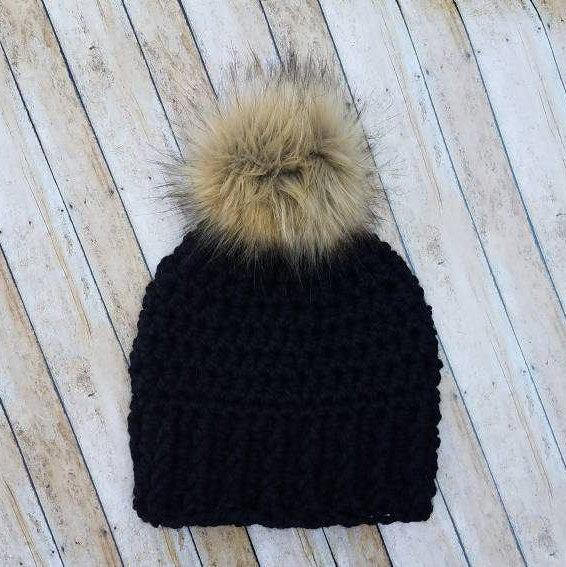 Cute Winter Kids Clothes -- Kids Fur Pom Pom Beanie -- Mommy Blogger - The Overwhelmed Mommy