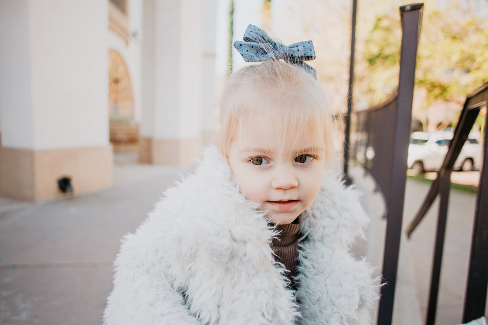 Cute Winter Kids Clothes --Kids White Fur Coat -- Mommy Blogger - The Overwhelmed Mommy